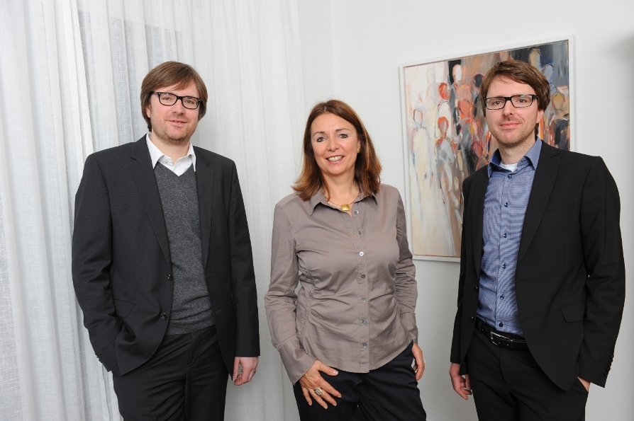 Die Geschäftsleitung: Jens, Ulla und Kai Oesterle (von links).